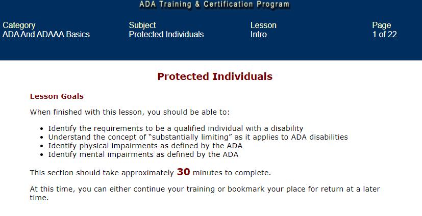 ADA training