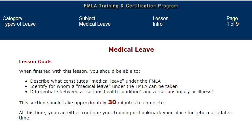 FMLA training
